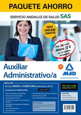 PAQUETE AHORRO Y TEST ONLINE GRATIS AUXILIAR ADMINISTRATIVO DEL SERVICIO ANDALUZ