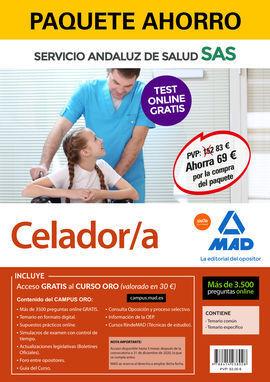 PAQUETE AHORRO Y TEST ONLINE GRATIS CELADOR/A DEL SERVICIO ANDALUZ DE SALUD. AHO