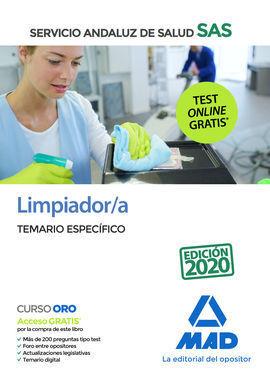 LIMPIADOR/A DEL SERVICIO ANDALUZ DE SALUD. TEMARIO ESPECÍFICO