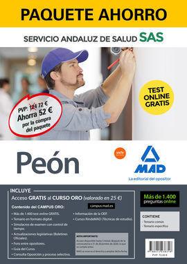 PAQUETE AHORRO Y TEST ONLINE GRATIS PEÓN DEL SERVICIO ANDALUZ DE SALUD. AHORRA 5