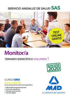 MONITOR/A DEL SERVICIO ANDALUZ DE SALUD. TEMARIO ESPECÍFICO VOLUMEN 1