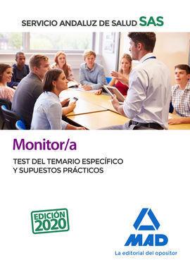 MONITOR/A DEL SERVICIO ANDALUZ DE SALUD. TEST DEL TEMARIO ESPECÍFICO Y SUPUESTOS