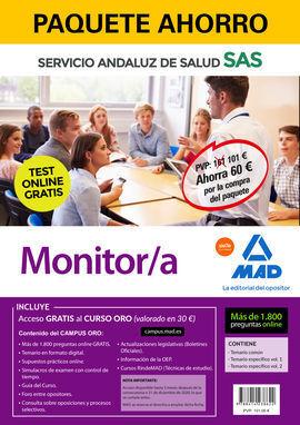 PAQUETE AHORRO Y TEST ONLINE GRATIS MONITOR/A DEL SERVICIO ANDALUZ DE SALUD. AHO