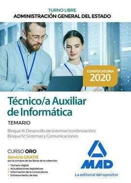 TECNICO AUXILIAR DE INFORMATICA DE LA ADMINISTRACION GENERAL DEL ESTADO (TURNO L