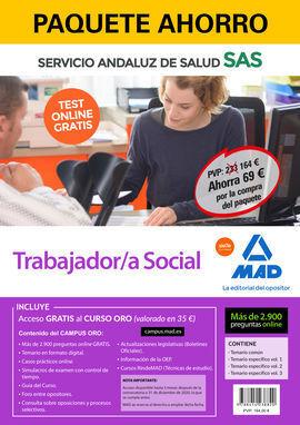 PAQUETE AHORRO Y TEST ONLINE GRATIS TRABAJADOR/A SOCIAL DEL SERVICIO ANDALUZ DE