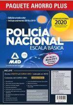 PAQUETE AHORRO PLUS ESCALA BÁSICA POLICÍA NACIONAL 2020. AHORRA 162 € (TEMARIOS