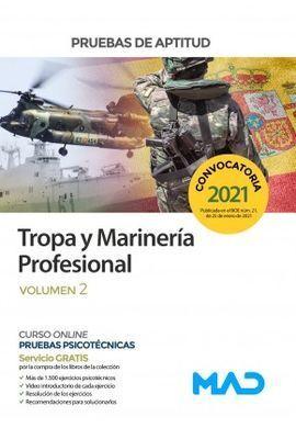 TROPA Y MARINERÍA PROFESIONAL. PRUEBAS DE APTITUD  VOLUMEN 2