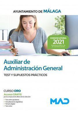 TEST Y SUPUESTOS PRÁCTICOS AUXILIAR DE ADMINISTRACIÓN GENERAL AYUNTAMIENTO DE MÁLAGA