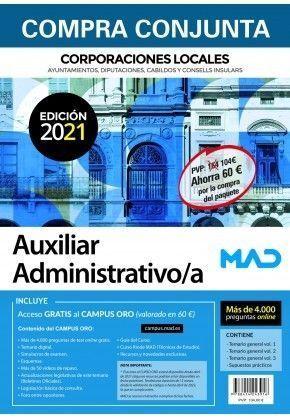 PACK AHORRO AUXILIAR ADMINISTRATIVO DE CORPORACIONES LOCALES. INCLUYE ACCESO