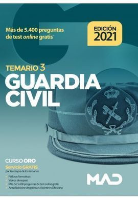 GUARDIA CIVIL TEMARIO VOLUMEN 3 (2021)