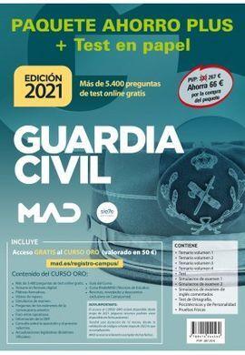 GUARDIA CIVIL PAQUETE AHORRO PLUS + TEST. (2021)