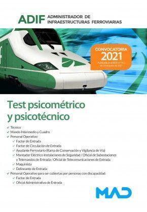 TEST PSICOMETRICO Y PSICOTECNICO ADIF. ADMINISTRADOR INFRAESTRUCTURAS FERROVIARI