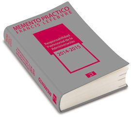 MEMENTO RESPONSABILIDAD PATRIMONIAL DE LA ADMINISTRACIÓN 2013-2014