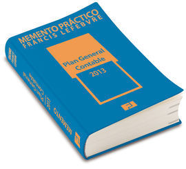 MEMENTO PRÁCTICO PLAN GENERAL CONTABLE 2013 (PRE-VENTA. PREVISTA PUBLICACION 26