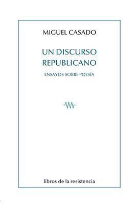 UN DISCURSO REPUBLICANO