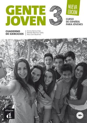 GENTE JOVEN 3 NUEVA EDICION - CUADERNO DE EJERCICIOS (NIVEL A2+)