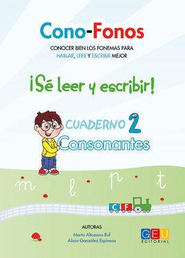 CONSONANTES. CUADERNO 2. CONO-FONOS