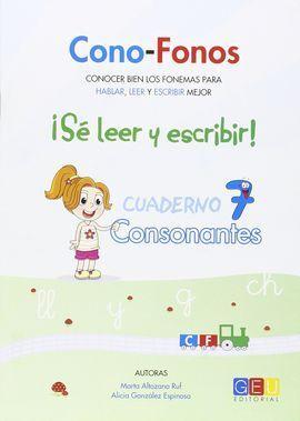 CONO-FONOS 3. SE LEER Y ESCRIBIR! CUADERNO 7