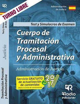 CUERPO TRAMITACION PROCESAL Y ADMINISTRATIVA JUSTICIA TEST
