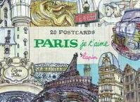 PARIS JET T AIME 20 POSTCARDS