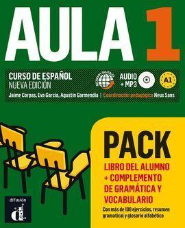 AULA 1 PACK LIBRO + COMPLEMENTO DE GRAMATICA Y VOCABULARIO