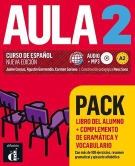 AULA 2 PACK LIBRO + COMPLEMENTO DE GRAMATICA Y VOCABULARIO