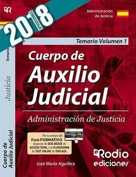 CUERPO DE AUXILIO JUDICIAL 1 TEMARIO