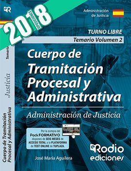 CUERPO DE TRAMITACION PROCESAL Y ADMINISTRATIVA 2 TEMARIO
