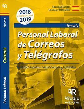 PERSONAL LABORAL DE CORREOS Y TELÉGRAFOS. TEMARIO 2018