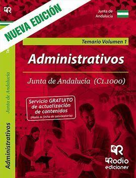 ADMINISTRATIVOS DE LA JUNTA DE ANDALUCIA (C1.1000). TEMARIO. VOL 1. 3 EDICION.