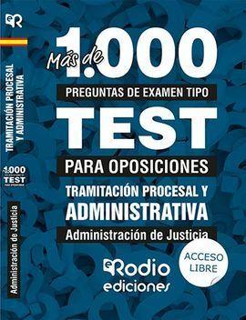 MAS DE 1.000 PREGUNTAS DE EXAMEN TIPO TEST PARA OPOSICIONES. ADMI