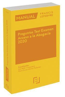 MANUAL PREGUNTAS TEST EXAMEN ACCESO ABOGACIA 2020