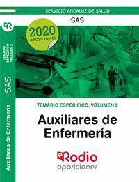 AUXILIARES DE ENFERMERÍA DEL SAS. TEMARIO ESPECÍFICO. VOLUMEN 2.
