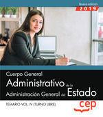 CUERPO GENERAL ADMINISTRATIVO DE LA ADMINISTRACIÓN GENERAL DEL ESTADO (TURNO LIB