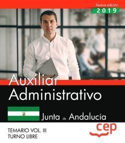 AUXILIAR ADMINISTRATIVO TURNO LIBRE JUNTA ANDALUCIA VOL 3
