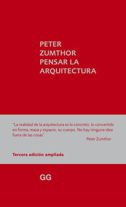 PENSAR LA ARQUITECTURA 3/E