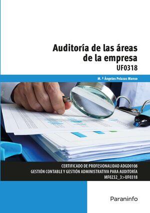 AUDITORIA DE LAS AREAS DE LA EMPRESA UF0318