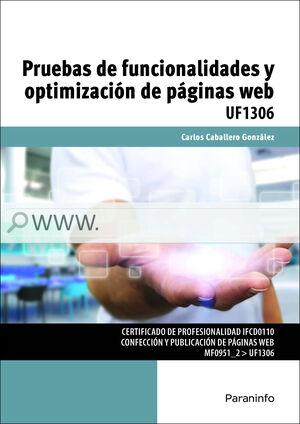 PRUEBAS DE FUNCIONALIDADES Y OPTIMIZACION DE PAGINAS WEB