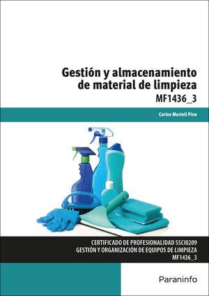 GESTION Y ALMACENAMIENTO DE MATERIAL DE LIMPIEZA