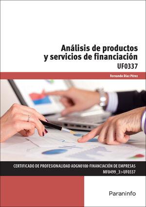 ANALISIS DE PRODUCTOS Y SERVICIOS DE FINANCIACION