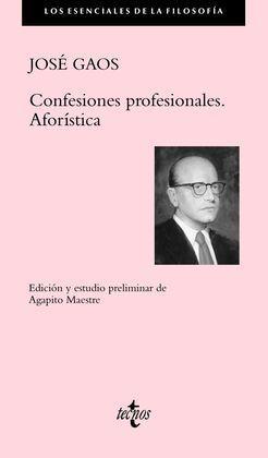 CONFESIONES PROFESIONALES. AFORÍSTICA
