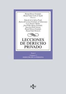 LECCIONES DE DERECHO PRIVADO. TOMO I