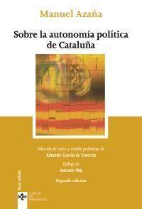 SOBRE LA AUTONOMIA POLITICA DE CATALUÑA