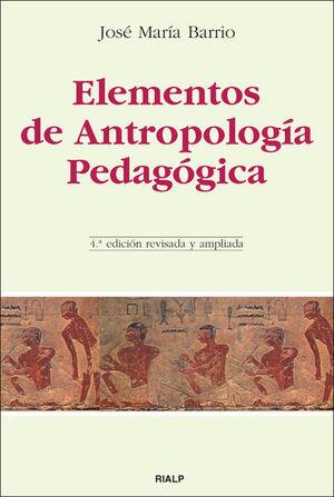 ELEMENTOS DE ANTROPOLOGÍA PEDAGÓGICA