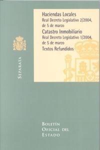 HACIENDAS LOCALES CATASTRO INMOBILIARIO TEXTOS REFUNDIDOS