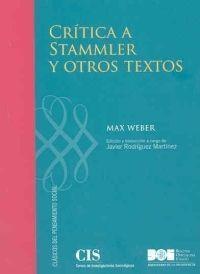 CRÍTICA A STAMMLER Y OTROS ENSAYOS DE METODOLOGÍA