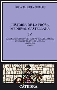 HISTORIA DE LA PROSA MEDIEVAL CASTELLANA IV