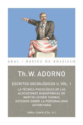 ESCRITOS SOCIOLÓGICOS II, VOL. 1
