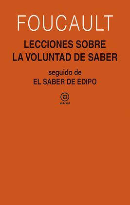LECCIONES SOBRE LA VOLUNTAD DE SABER