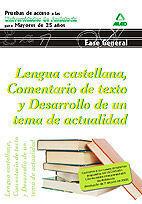 LENGUA CASTELLANA. COMENTARIO DE TEXTO Y DESARROLLO DE UN TEMA DE ACTUALIDAD. PR